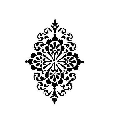 Stencil AS420 Mønster 21x30 cm