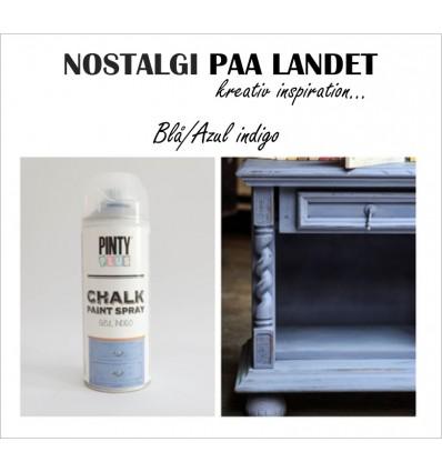 Azul indgo / Blå Pinty Plus kalkmaling på spray