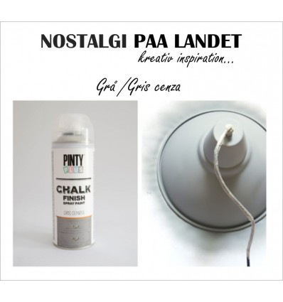 Ash grey / Grå Pinty Plus kalkmaling spray