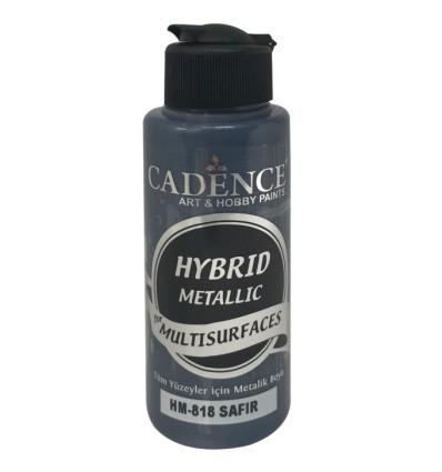 Hybrid metallic maling 818 Safir blå