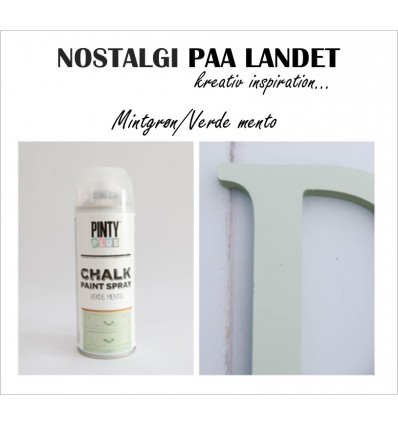 Verde menta / Mint grøn Pinty Plus kalkmaling spray