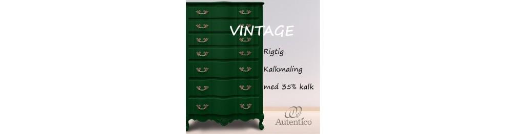 Autentico vintage kalkmaling