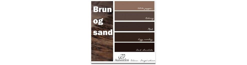Brun og sandfarvet