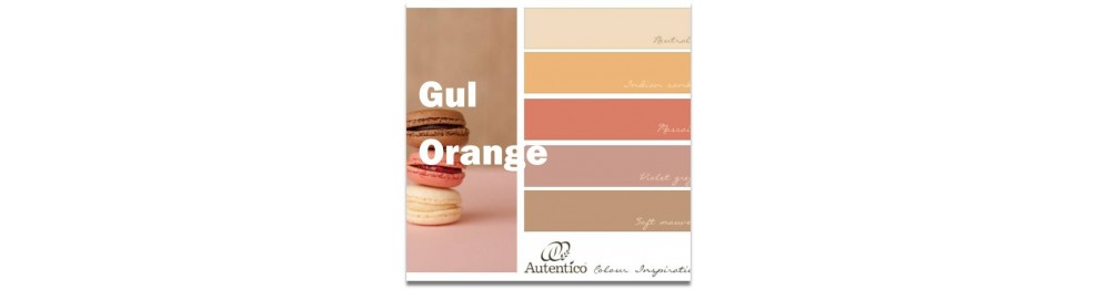 Gul og orange